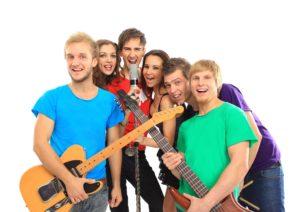spelen in een popband in Barneveld